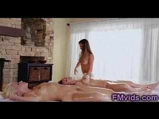 Hot lesbian group sex