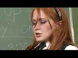 Teacher pussy licking her student in class