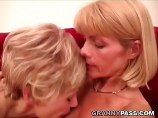 Granny lesbians pleases each other