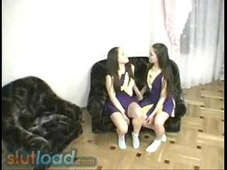 Real lesbian twin cheerleaders fapdu