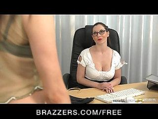Stunning brunette fucks her student to orgasm